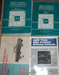 1991 Ford F-150 250 F250 350 Bronco Truck Service Shop Repair Manual Set 91 x