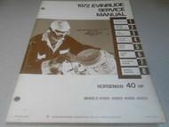 1972 Evinrude Norseman 40 HP Service Shop Repair Manual 40202 40203 40252 x OEM