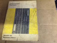 1972 Cummins Automotive Diesel Engines Operation & Maintenance Manual OEM BOOK