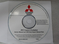 2013 Mitsubishi Lancer Evolution Service Manual 2008 Body Repair Manual DATA CD