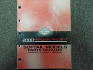 2000 HARLEY DAVIDSON SOFTAIL MODELS Parts Catalog Manual FACTORY OEM BOOK NEW