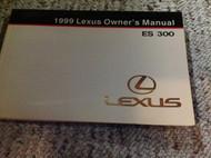 1999 LEXUS ES300 ES 300 Owners Manual FACTORY DEALERSHIP GLOVE BOX 1999