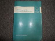 1988 MERCEDES Models 107 124 126 201 Service Repair Shop Manual WATER DAMAGED 88