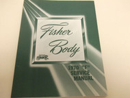 1970 CHEVY CAMARO Body Service Shop Repair Manual BOOK FACTORY 70 OEM