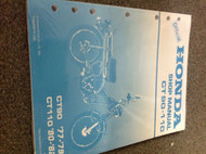 1977 1978 1979 1980 81 1982 HONDA CT90 CT110 Service Shop Repair Manual OEM X