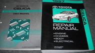 1997 TOYOTA CELICA Service Repair Shop Manual Set OEM W WIRING DIAGRAM BOOK