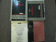 1995 LINCOLN CONTINENTAL Service Shop Manual Set FACTORY OEM BOOKS DAMAGED 95