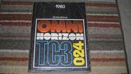1980 DODGE OMNI Service Repair Shop Manual OEM Factory DEALERSHIP BOOK