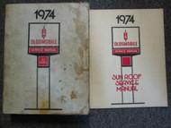 1974 Oldsmobile All Series Service Shop Repair Manual SET OEM BOOKS SUNROOF