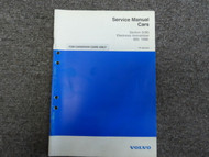 1996- Volvo SEC 3 Electronic Immobilizer 850 CANADIAN CARS ONLY Service Manual