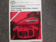 1978 1979 1980 1981 1982 1983 1984 Harley Davidson FL FX Service Shop Manual