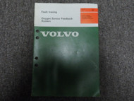 1970s 1980s Volvo Fault Tracing Oxygen Sensor Feedback System Manual OEM FACTORY