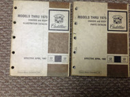 1967 1968 1969 1970 1972 1973 1974 1975 CADILLAC Parts Catalog Manual SET x