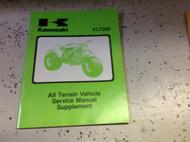 1981 1982 1983 KAWASAKI KLT200 KLT 200 Service Repair Shop Manual SUPPLEMENT x