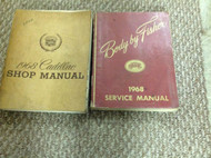 1968 CADILLAC ALL MODELS ALL SERIES Shop Service Repair Manual SET W FISHER BODY