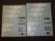 1988 CHEVY CHEVROLET CAMARO Service Shop Repair Manual SET FACTORY 88 OEM X