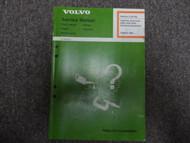 1982 Volvo 700 900 Lighting Instrumentation Electrical Equipment Service Manual