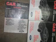 1987 Lincoln Town Car Service Shop Repair Manual SET OEM FACTORY BOOK 87