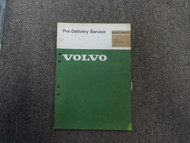 1976 Volvo 240 260 Pre Delivery Service Section 1 Shop Manual FACTORY OEM 76