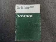 1981 Volvo GLE DL COUPE GL GLT New Car Features USA & Canada Manual USED OEM