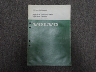 1977 Volvo 240 260 Models New Car Features USA & CANADA Shop Manual FACTORY OEM