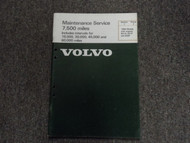 1980 Volvo Models w/ engines B21A B21F & B28F Maintenance Service Shop Manual 80