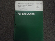 1981 Volvo Models Gasoline Engines Maintenance Service Manual 600 1200 Miles OEM
