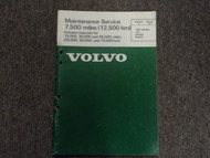 1981 Volvo Models Gasoline Engines Maintenance Service Manual FACTORY OEM