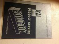 1950 GM Buick Cadillac Chevrolet Pontiac Bulletins Manual OEM RARE FACTORY