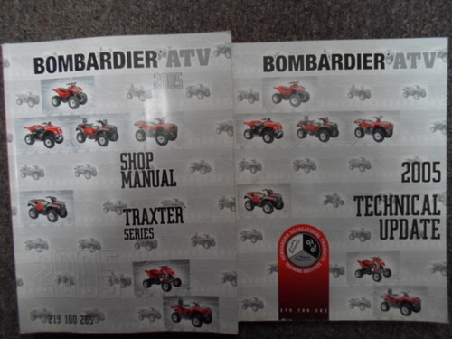 2005 Bombardier Traxter Atv Shop Repair Service Manual Set