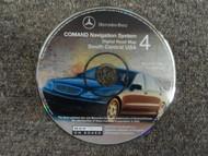 2002 Mercedes Benz COMAND NAV System South Central USA Digital Road Map CD#4