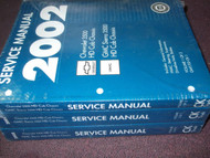 2002 Chevrolet Chevy GMC SIERRA TRUCK 3500 HD CHASSIS Service Repair Manual SET
