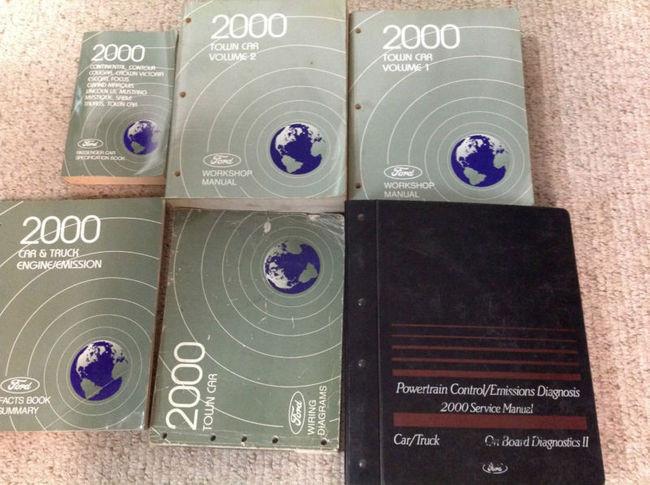 2000 Lincoln Town Car Service Shop Repair Manual Set W Ewd