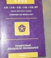 1996 CHRYSLER MOPAR LHS POWERTRAIN Diagnostics Procedures Service Shop Manual