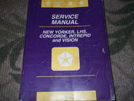1996 DODGE MOPAR CHRYSLER INTREPID Service Shop Repair Manual OEM FACTORY BOOK
