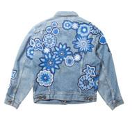 Monochromatic Geo Floral Jacket #3