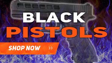airsoft pistols in black