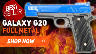 galaxy g20 Spring pistol bb gun in blue