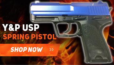 Y&P USP Spring pistol bb gun in blue