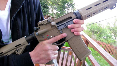 gas airsoft rifle