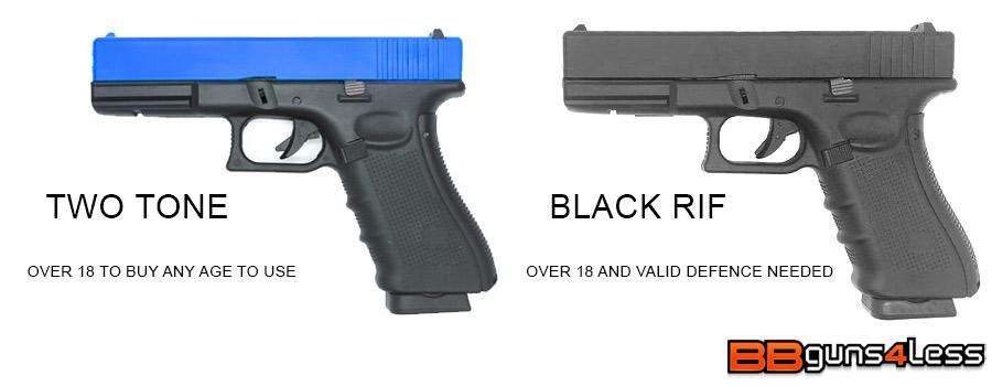 ukara and two tone bb pistols