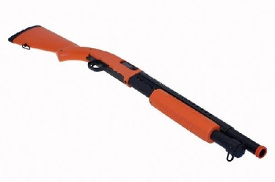 Double Eagle M58A Pump Action Shotgun with Full Stock in Orange