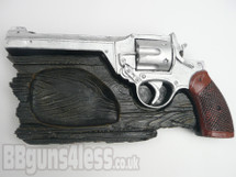 Remington revolver pistol ceramic ashtray