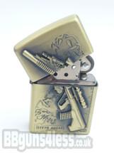 Oil Lighter with STEYR AUG snipe rifle imprint