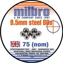 Milbro Steel Slingshot Ammo 75 x 9.5MM
