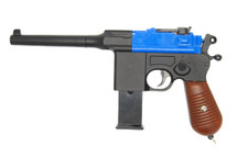 Galaxy G12 Broom Handle Mauser C96 Style pistol in blue