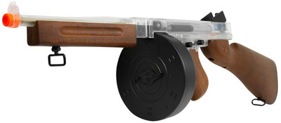 Thompson M1A1 Military AEG Airsoft rifle with drum mag