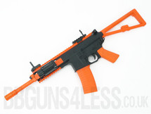 Bison C301 PDW Airsoft Spring Rifle in Orange/Black