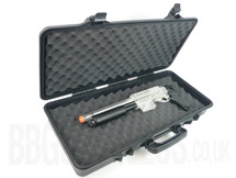 Airsoft gun carry case in Tough plastic mid size in black
