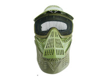 Pro BB gun Protection mask in green with mesh visor